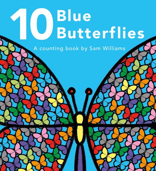 10 Blue Butterflies