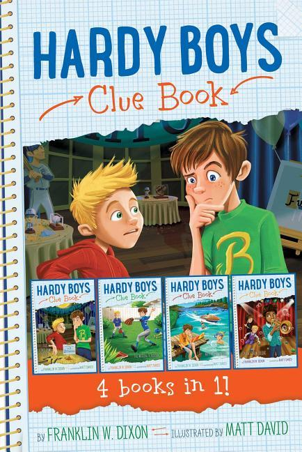 Hardy Boys Clue Book 4 Books in 1!: The Video Game Bandit; The Missing Playbook; Water-Ski Wipeout; Talent Show Tricks (Bind-Up)