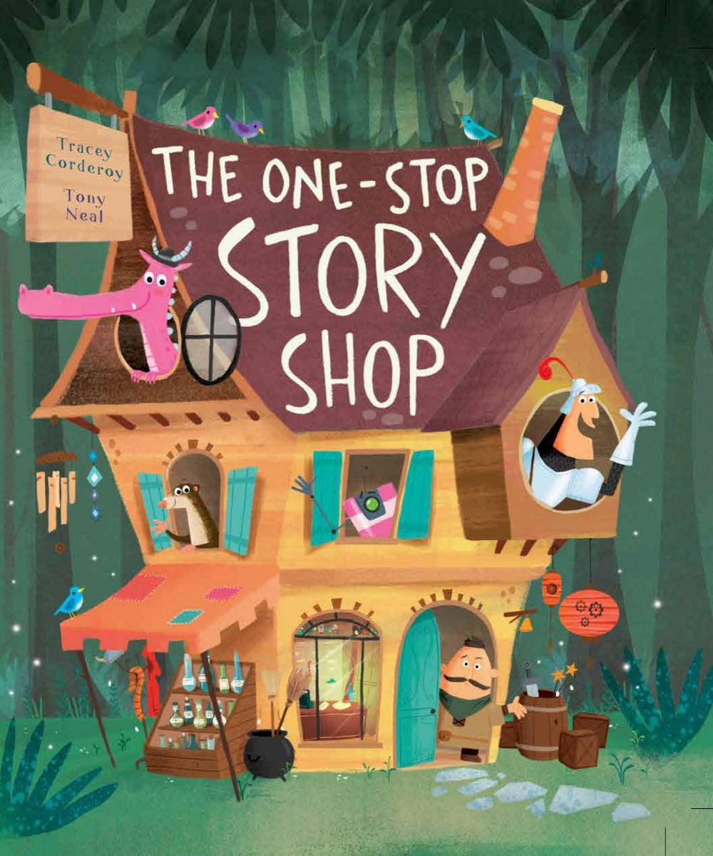Children's Book The One-Stop Story Shop by Tracey Corderoy