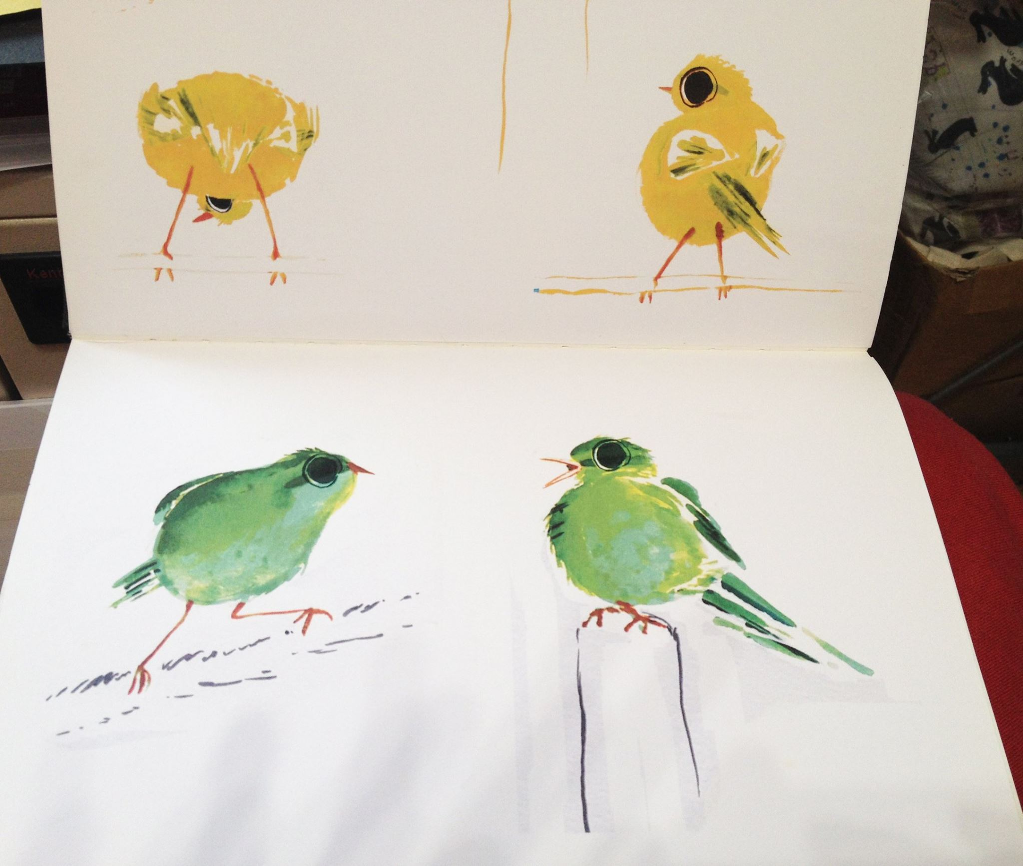 Jo Empson's Sketches for Little Home Bird