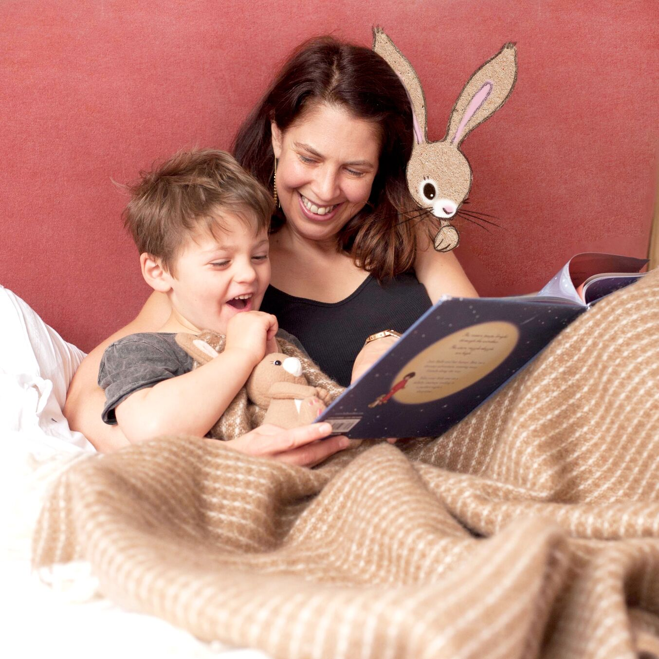 Children's Book Illustrator Mandy Sutcliffe reading with son