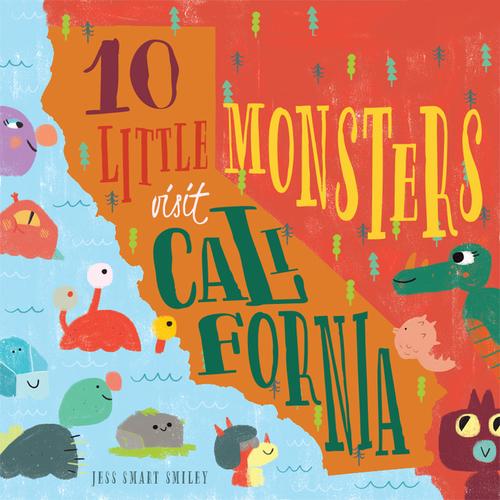 10 Little Monsters Visit California book