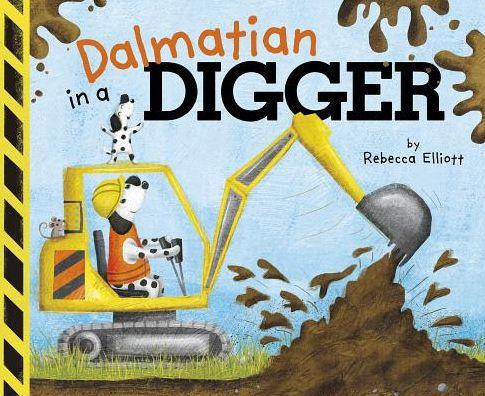 Dalmatian in a Digger book
