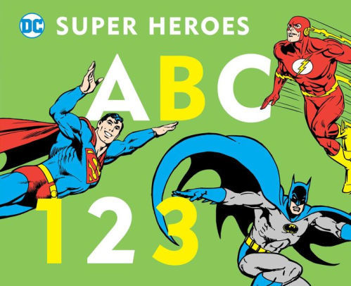 DC Super Heroes ABC 123 book