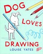 Dog Loves Drawing book