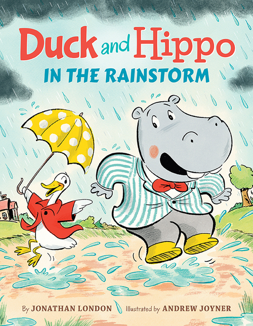 Duck and Hippo in the Rainstorm book