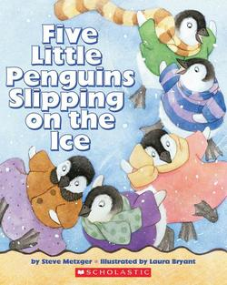 Five Little Penguins Slipping on the Ice book
