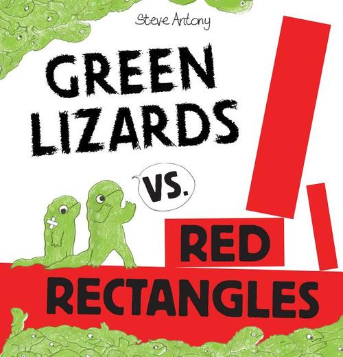 Green Lizards vs. Red Rectangles book