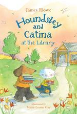 Houndsley and Catina at the Library book