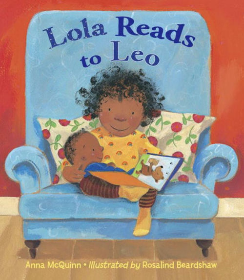 Lola Reads to Leo book