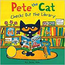 Pete the Cat Checks Out the Library book