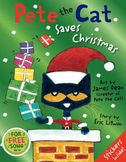 Pete the Cat Saves Christmas Book