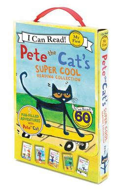 Pete the Cat's Super Cool Reading Collection: Too Cool for School/Play Ball!/Pete at the Beach/Pete's Big Lunch/A Pet for Pete book