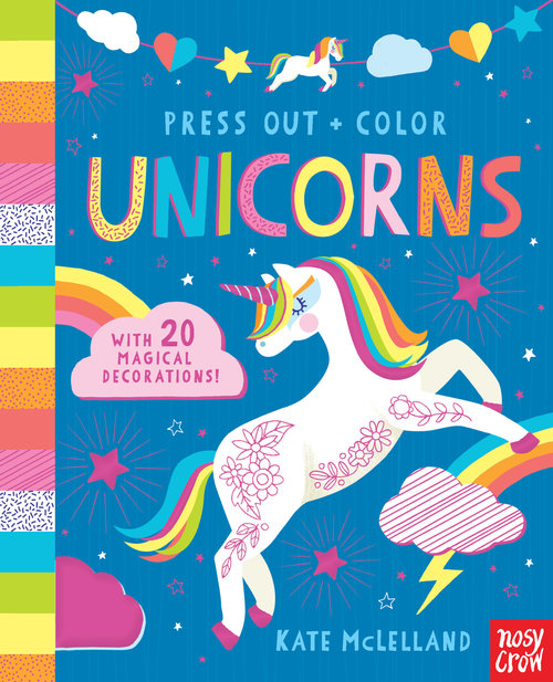 Press Out and Color: Unicorns Book
