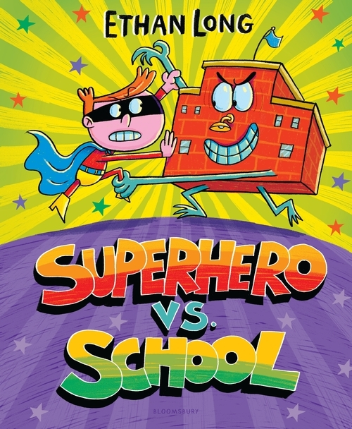 Superhero vs. School book