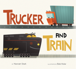 Trucker and Train book