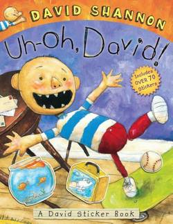 Uh-oh, David! Sticker Book book