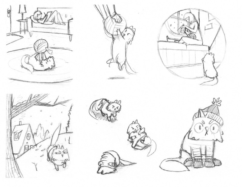 Roughs from first dummy book