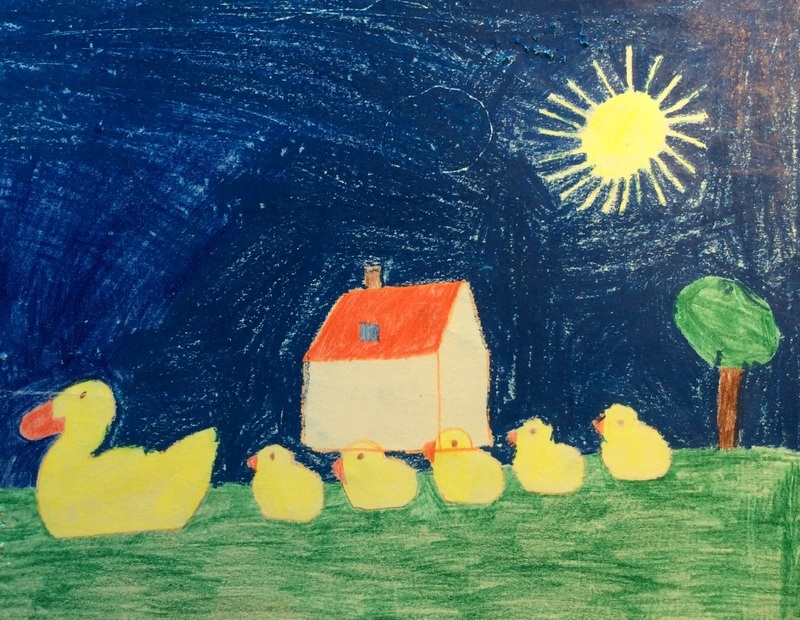 I loved to draw from when I was little. Here is a picture I made in kindergarten in Switzerland.