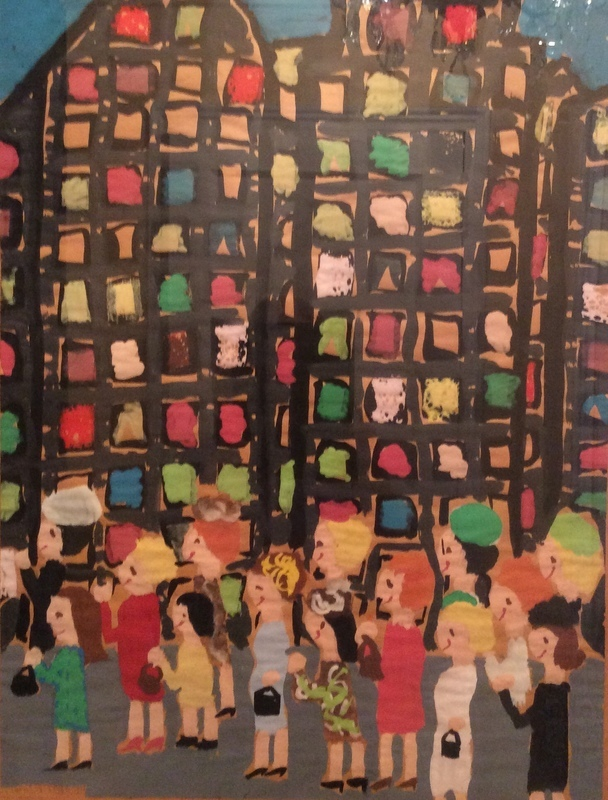 And here is a picture I painted in elementary school when we moved to New York.