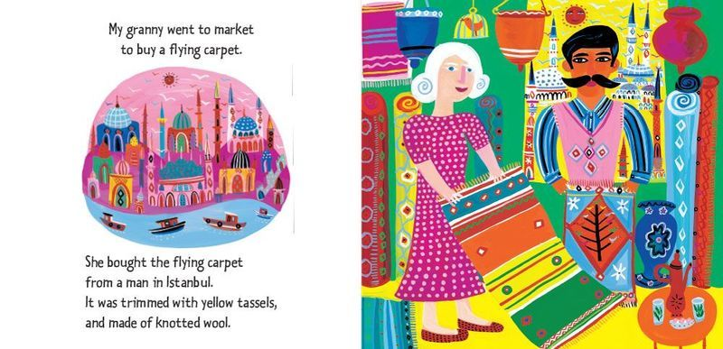 'My granny went to market to buy a flying carpet.'
