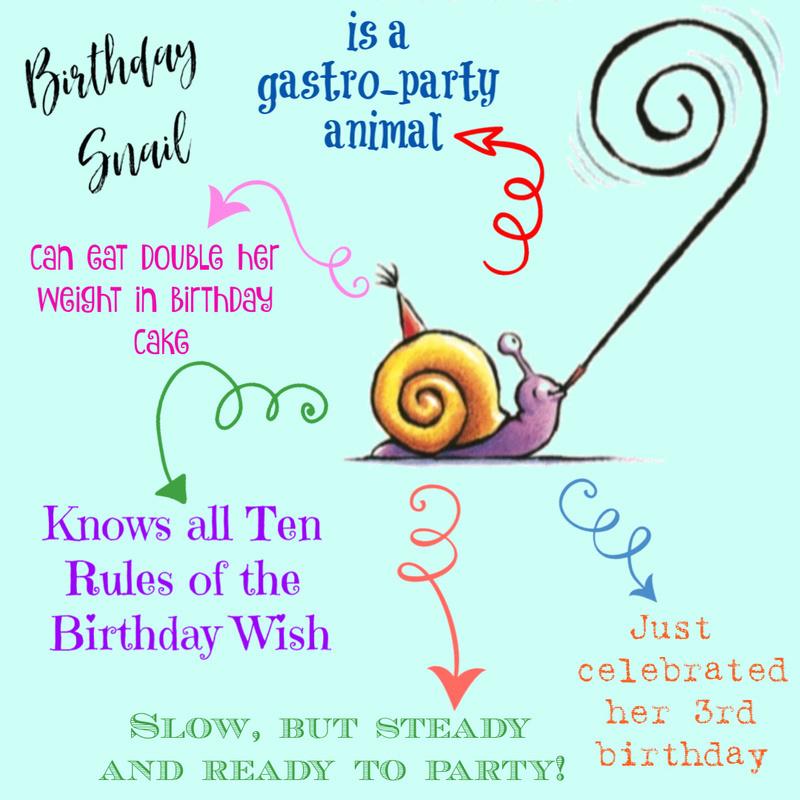 A peek at the birthday snail