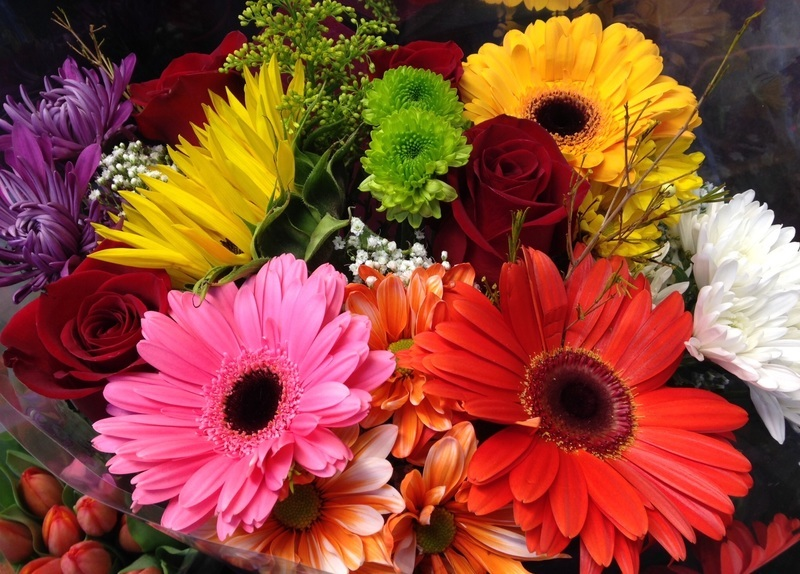 Gather some flowers from your garden or choose a bouquet from the store....